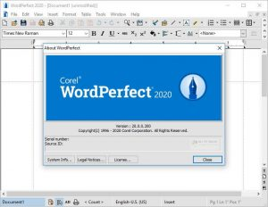Corel WordPerfect Office Professional 2020 v20.0.0.200 Crack