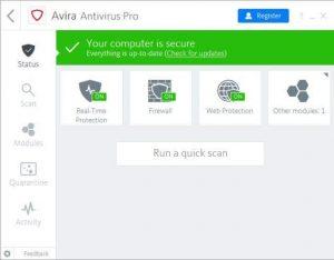 Avira Antivirus Pro 15.0.2101.2070 Keygen